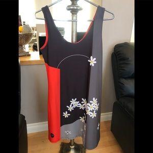 Volt Design Wearable Art Tank Dress. Size L, 3 EUC